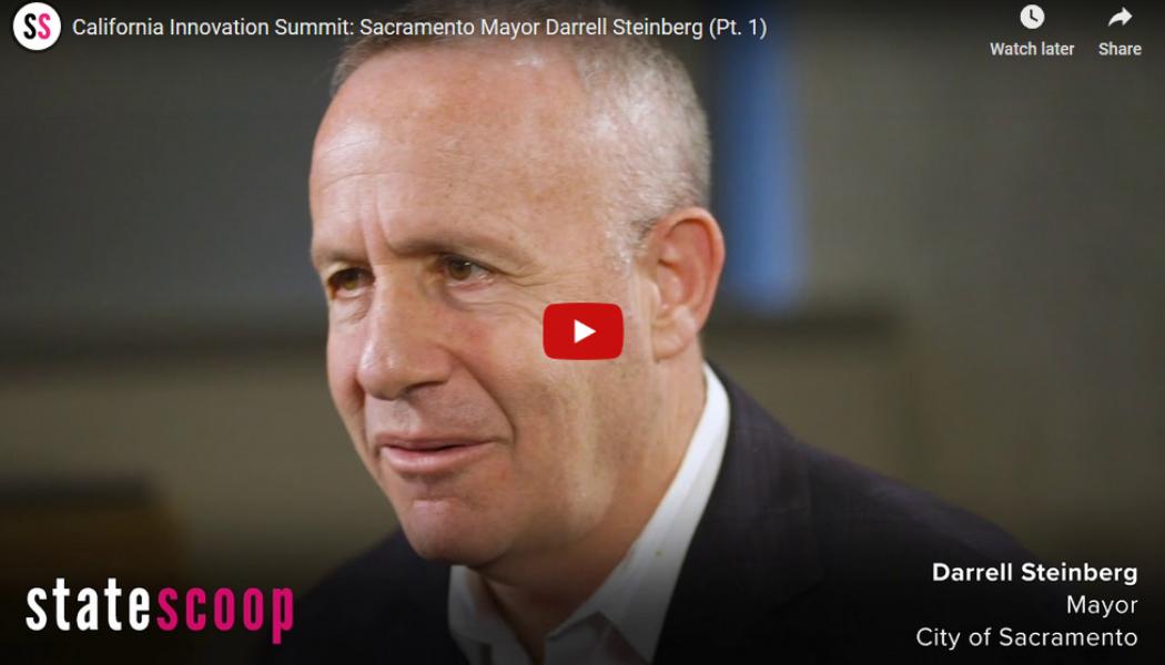 Technology can help government change, says Sacramento's mayor